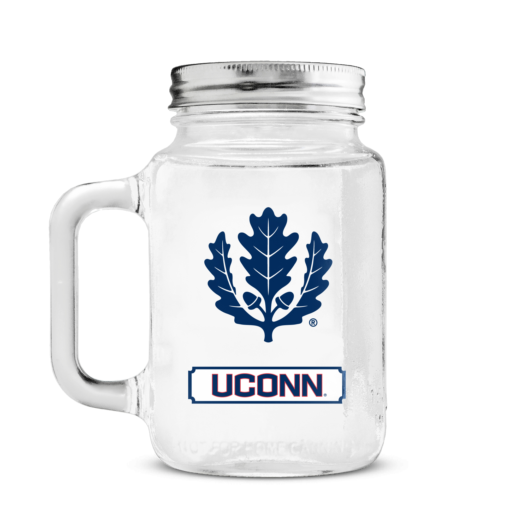 20 oz Mason Jar - University of Connecticut University of Connecticut DHCCONMJ