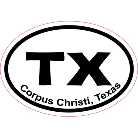 3X2 Oval Corpus Christi Sticker Vinyl Vehicle Window Texas City Bumper Stickers](Party City In Corpus Christi)