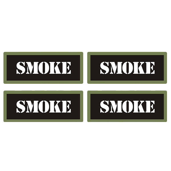 "Smoke Ammo Can 4 Pack 3"" Black Sticker Gun Ammunition Box Case Decal"