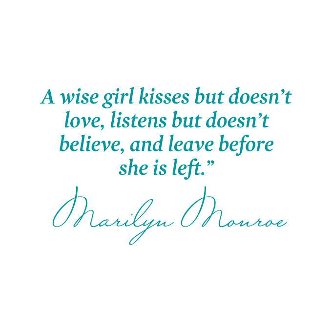 A Wise Girl Kisses but Doesn't Love, Listens but Doesn't Believe.. Vinyl Quote - Large