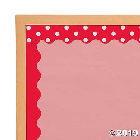 Double-Sided Solid & Polka Dot Bulletin Board Borders - Red](Red Bulletin)