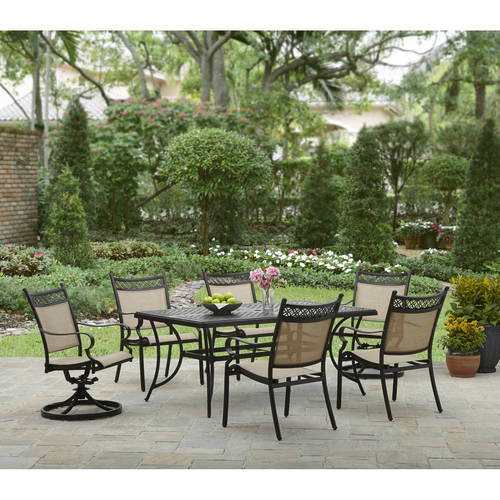 Better Homes and Gardens Lyndal Place 7pc Sling Cast Header Dining Set