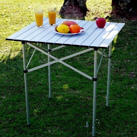 Portable Folding Table Aluminum Alloy Roll Up Picnic Camp Tables Outdoor by konxa