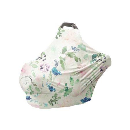 Infant Soft Heart Feather Floral Printed Nursing Car Seat 1pcs - image 1 de 8