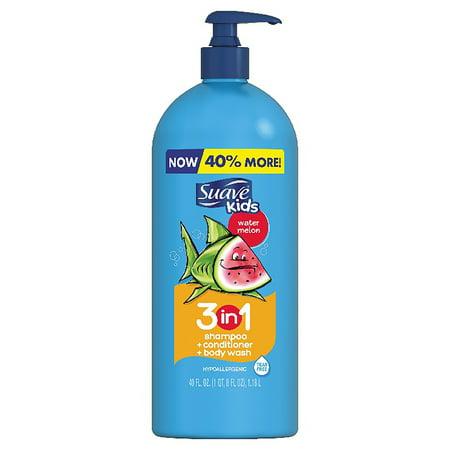 Suave Kids 3 in 1 Shampoo Conditioner Body Wash Watermelon 40 oz