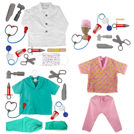 TopTie Doctor Nurse Role Play Set Dress Up Surgeon Costumes Set For Kids Great Gift Idea-3 (Children's Greek Costume Ideas)