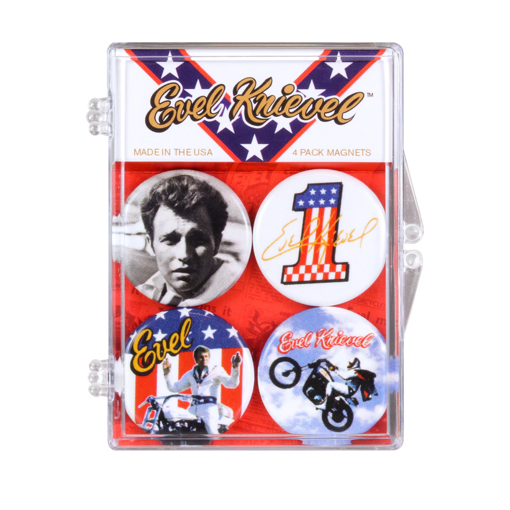 Evel Knievel Badges of Pride Magnet 4-Pack - image 1 of 1