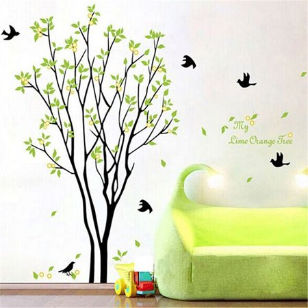 Tree Bird Removable Vinyl Quote Wall Sticker Decal Mural DIY Art Home Room Decor,Finish Size 47''x39''