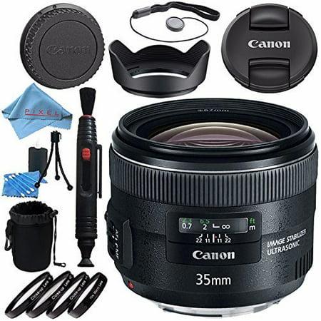 Canon EF 35mm f/2 IS USM Lens 5178B002 + 67mm Macro Close Up Kit + Lens Cleaning Kit + Lens Pouch + Lens Pen Cleaner + 67mm Tulip Lens Hood + Fibercloth