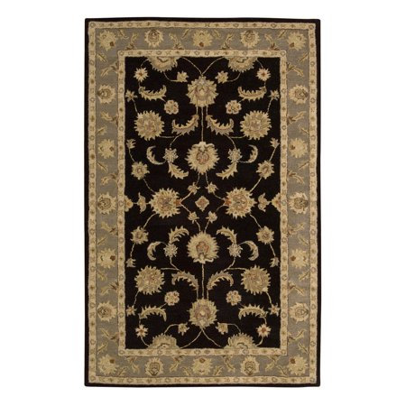 Nourison India House IH90 Handmade Traditional Bordered Rug, (Hand Tufted Wool Rugs Made In India)