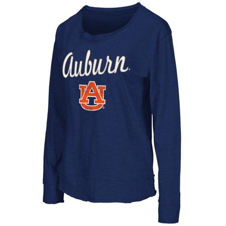 Auburn Tigers Womens Ncaa  Rope Tow  Long Sleeve Crew Shirt