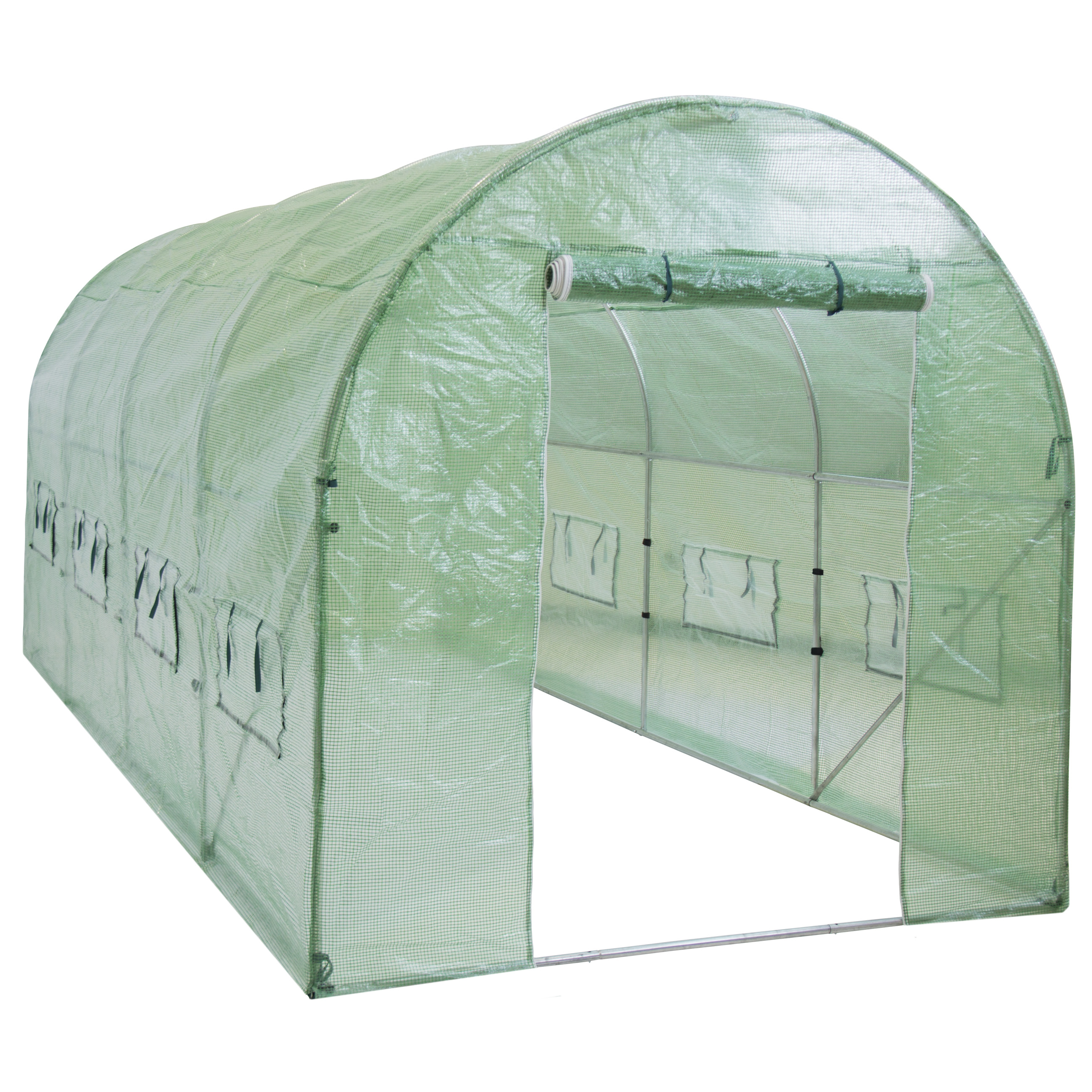 Greenhouse 15'x7'x7' Larger Walk In Tunnel Green House Garden Plant