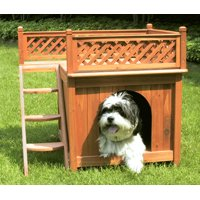 Deals on Merry Products Wooden Dog House Cedar Stain Small