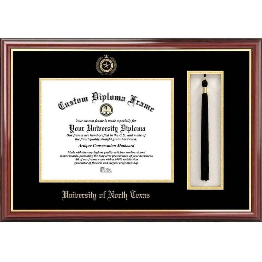 "University of North Texas 11"" x 14"" Tassel Box and Diploma Frame"