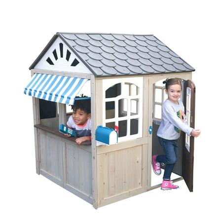 KidKraft Hillcrest Wooden Outdoor Playhouse ()