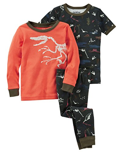 OshKosh B'gosh Baby Boys' 3-Piece Glow-In-The-Dark Cotton Pajamas, 9 Months