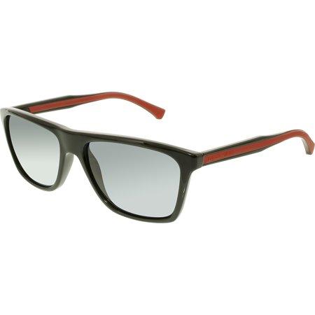 c6d7bf867a53 Emporio Armani - Men's Polarized EA4001-501781-56 Black Rectangle Sunglasses  - Walmart.com