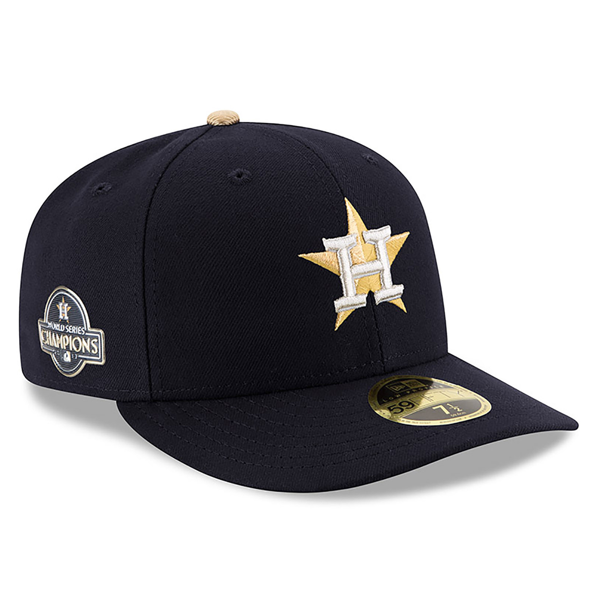 Houston Astros New Era 2018 Gold Program Low Profile 59FIFTY Fitted Hat - Navy