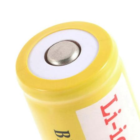 2pcs 18650 3.7V 5000mAh Li-ion Rechargeable Li-ion Battery for LED Flashlight