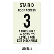 INTERSIGN NFPA-PVC1812(D1A3) NFPASgn,Stair Id D,Flrs Srvd 1 to 3 G0262915