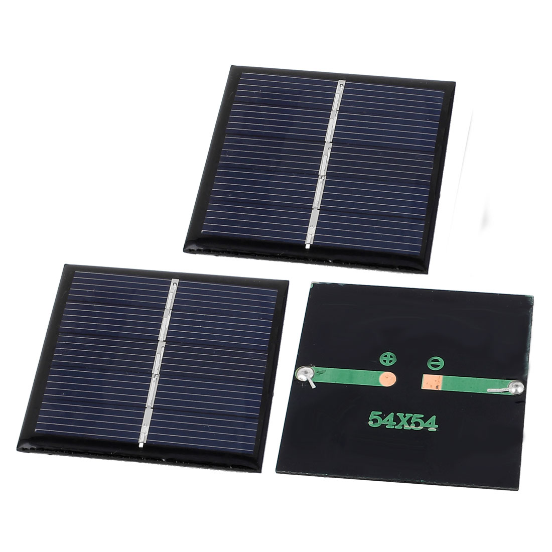 3 Pcs 2.5V 0.42W DIY Polycrystallinesilicon Solar Panel Battery Charger 54x54mm