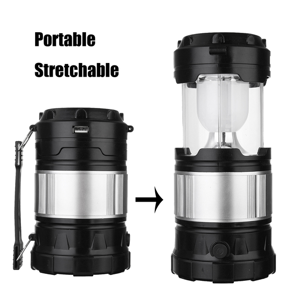 Super Bright Solar Powered Survival Camping Tent Lantern & Flashlight Torch with USB Emergency Charge Port Rechargeable Portable by