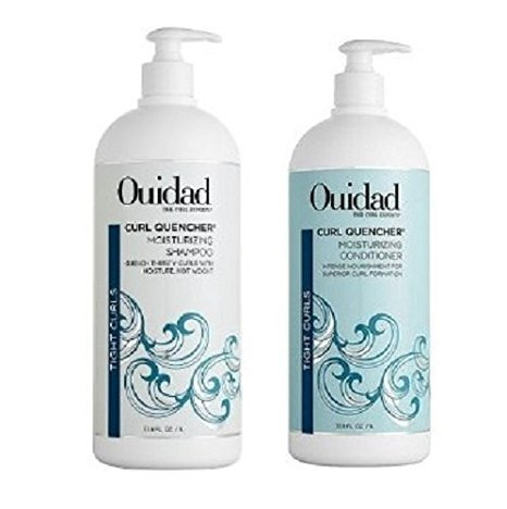 Ouidad Curl Quencher Moisturizing Shampoo & Conditioner Liter Duo