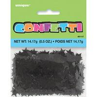 Foil Star Confetti, Black, 0.5 oz