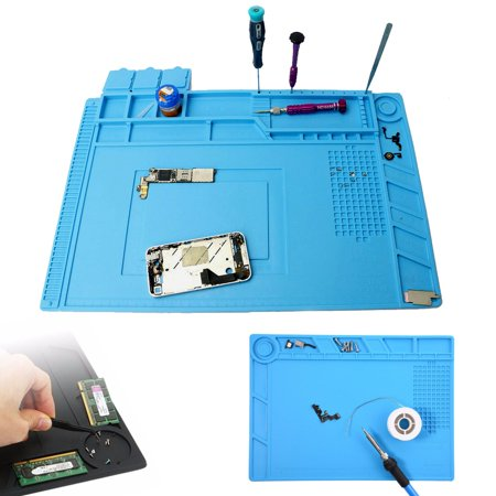 - Heat Insulation Silicone Pad Soldering Repair Maintenance Desk Mat Work Platform For Phone Repair service Magnetic Heat Solder