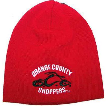 OCC Orange County Choppers Beanie  Red with Black   White Logo  -  Walmart.com c274de569b3d