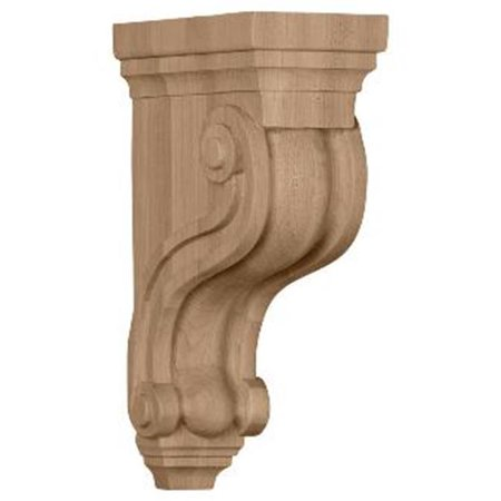 Ekena Millwork COR03X06X10TSAL 3.37 in. W x 6.5 in. D x 10.5 in. H Boston Traditional Scroll Corbel, Alder, Architectural Accent - image 1 de 1