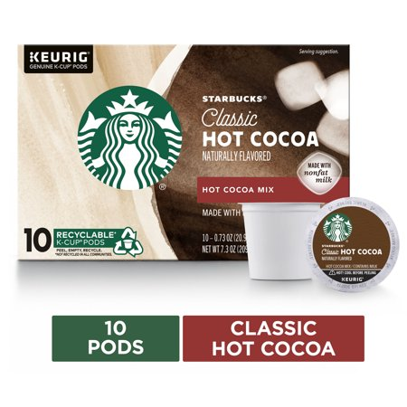Starbucks Hot Cocoa K-Cup Coffee Pods  Hot Cocoa for Keurig Brewers  1 box (10 pods)