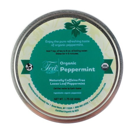 Heavenly Tea Leaves Organic Peppermint Loose Leaf Tisane Canister, 1.75 oz.