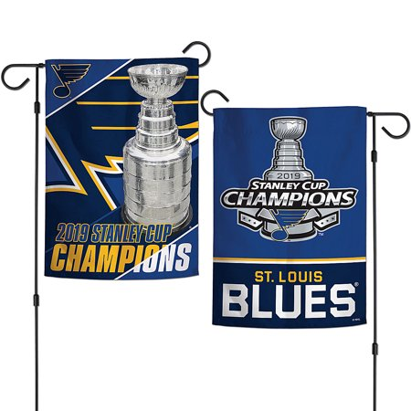 "Blues Stanley Cup 2019 Champions 12"" x 18"" Two Sided Garden Flag"
