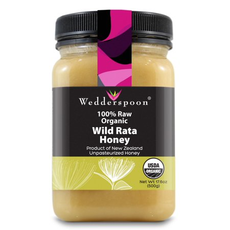 Wedderspoon Honey New Zealand Wild Rata 100% Raw Organic - 17.6 Ounce