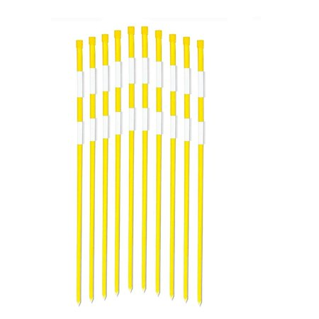 FiberMarker 48-Inch Reflective Driveway Markers Driveway Poles for Easy Visibility at Night 5/16 Inch Diameter Yellow,20pack