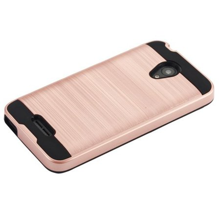 Cameo X/idealXCITE/U50/Verso Case, by Insten Dual Layer [Shock Absorbing] Hybrid Brushed Hard Plastic/Soft TPU Rubber Case Cover For Cameo X/idealXCITE/U50/Verso, Rose Gold/Black - image 3 de 4