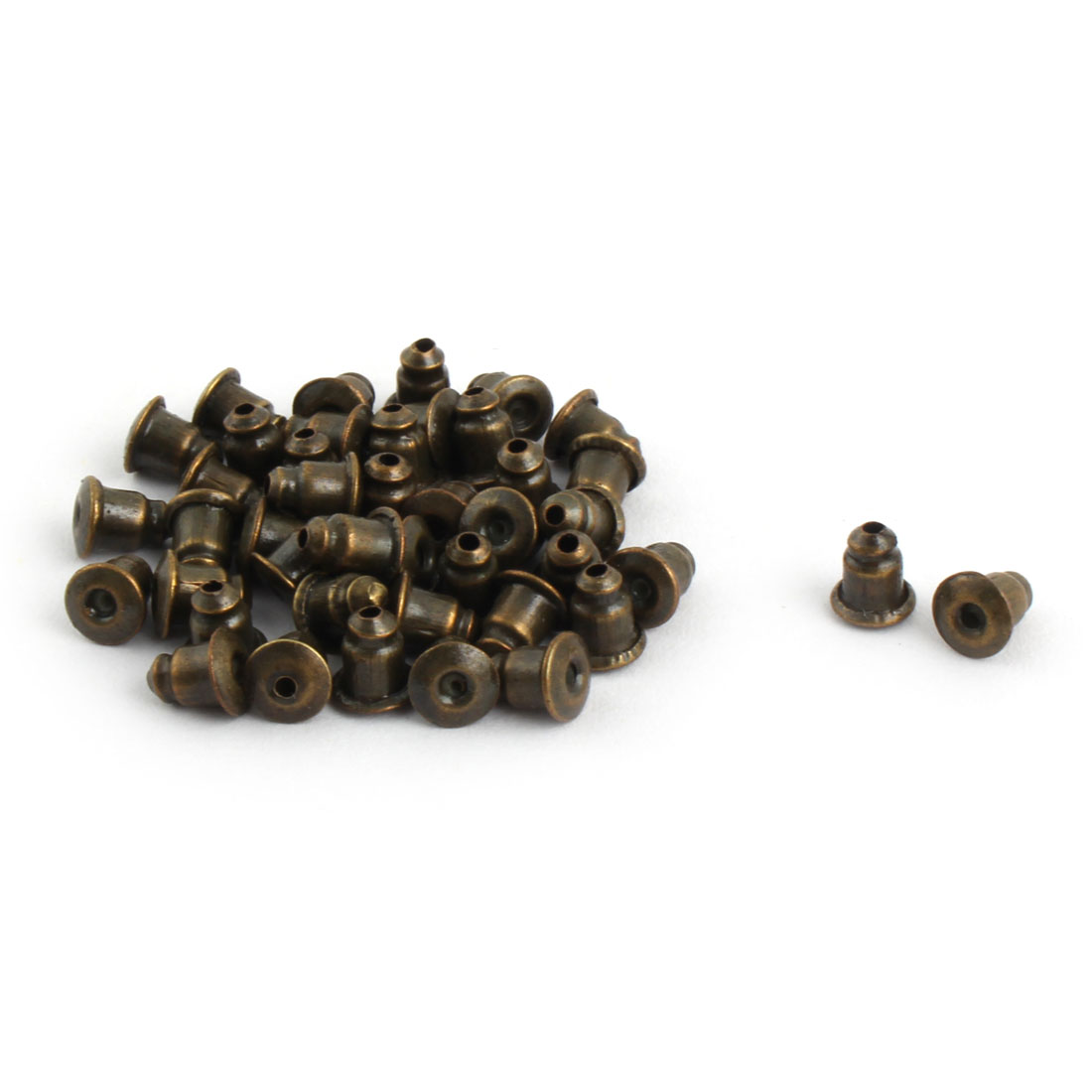 Ladies Metal Earring Backs Clasps Stoppers Accessory Bronze Tone 40pcs