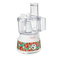 Pioneer Woman Vintage Floral 10 Cup Food Processor with Bowl Scraper by Hamilton Beach, 70731