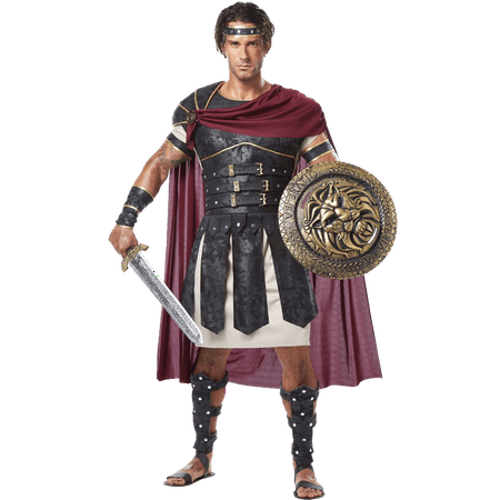 Mens Armored Roman Gladiator Costume, size: Small | Leather by Medieval