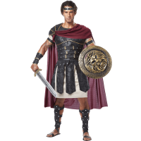 Mens Armored Roman Gladiator Costume, size: Small   Leather by Medieval Collectibles