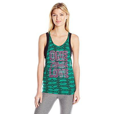 Zumba Womens One Zumba love Bubble Tank, Royal Emerald, X-Large by