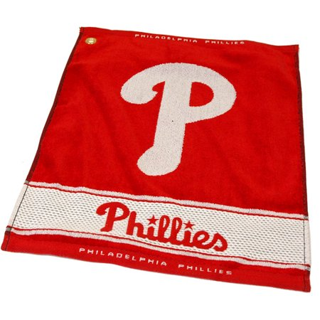 Team Golf MLB Philadelphia Phillies Jacquard Woven Golf Towel