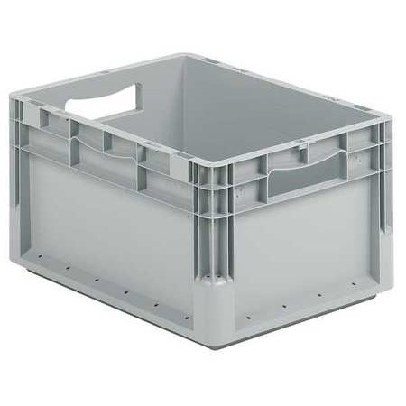 Ssi Schaefer Solid Wall Stacking Container, Gray ELB4220.GY1