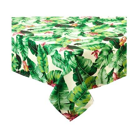 Kalea Tropical Print Zippered Umbrella Fabric Tablecloth (60 x 84 Rectangle Umbrella)