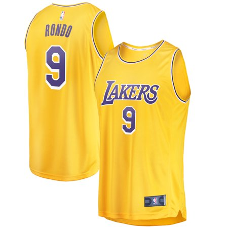 timeless design 7c1a1 05bc3 Rajon Rondo Los Angeles Lakers Fanatics Branded Youth Fast Break Replica  Jersey Gold - Icon Edition