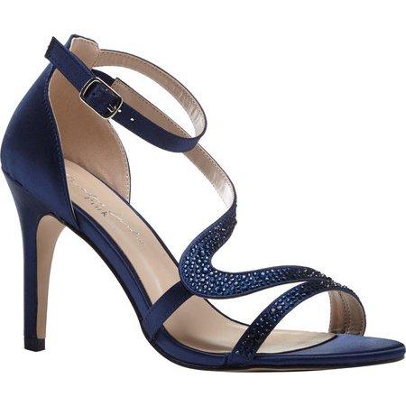 577a9e4d14b Women's Pink Paradox London Mckayla Ankle Strap Sandal Black Satin 10 M -  image 1 ...