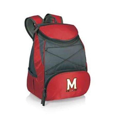 Picnic Time 633-00-100-314-0 University of Maryland Terrapins-Terps Digital Print Backpack Cooler Tote Bag, Red Maryland Picnic Backpack