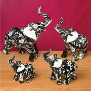 Fashion Craft 4 Piece Black and White Elephants Set