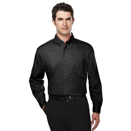 Tri-Mountain Men's Big And Tall Button Pocket Dress Shirt